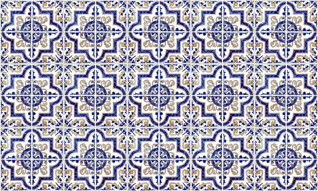 Telha sem emenda de portugal ou de espanha azulejo. alta resolução. Foto Premium