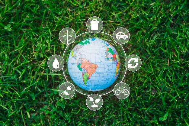 Tema da natureza e das energias renováveis Foto gratuita
