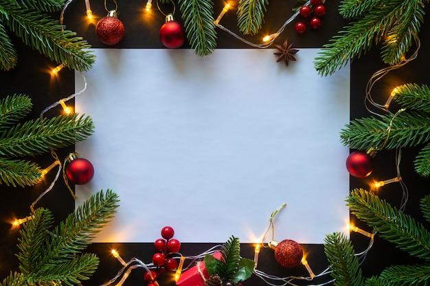 Tema de casa decorada de natal. Foto Premium