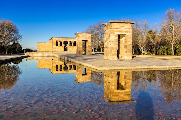 Temple debod em madrid spain Foto Premium