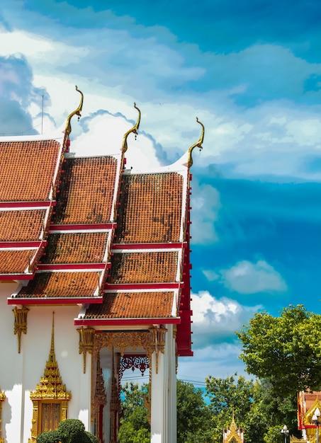 Templo de wat chalong na tailândia Foto Premium