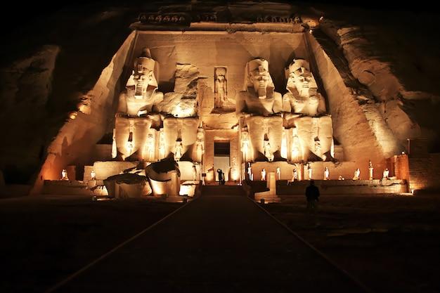 Templo em abu simbel, egito Foto Premium