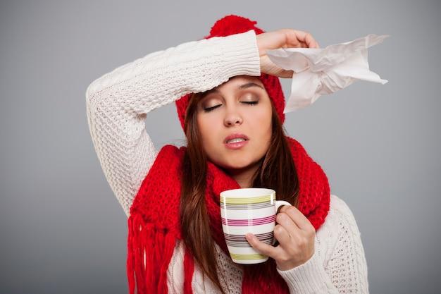 Temporada de inverno para resfriados e gripes Foto gratuita