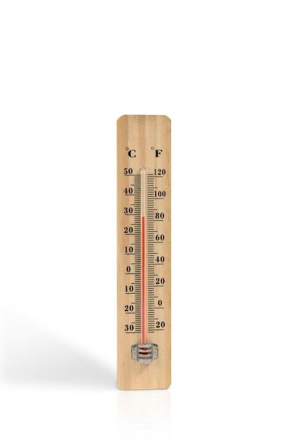 Termômetro de madeira Foto Premium