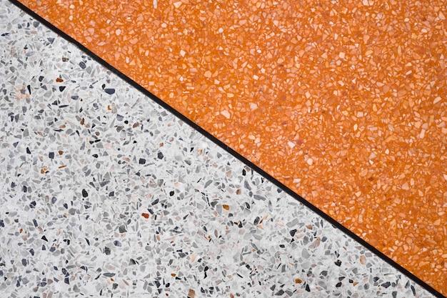 Terrazzo polido fundo de piso e parede de pedra Foto Premium