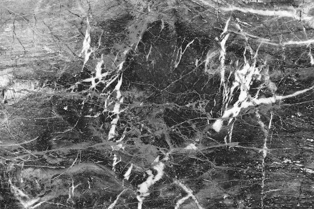 Teste padrão natural de mármore preto para o fundo, mármore natural abstrato preto e branco Foto Premium