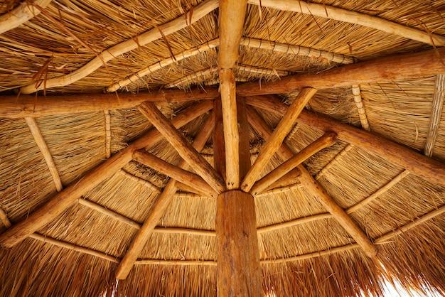 Teto solar de praia do caribe em riviera maya Foto Premium