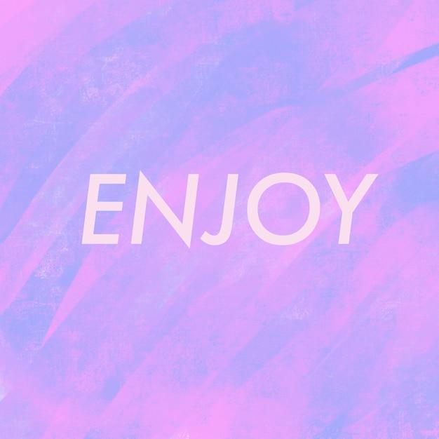 Texto aprecie em rosa brilhante e roxo Foto Premium