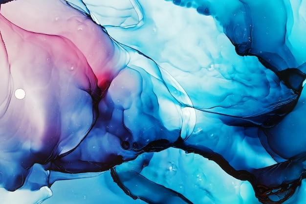 Textura abstrata de tinta de álcool Foto Premium