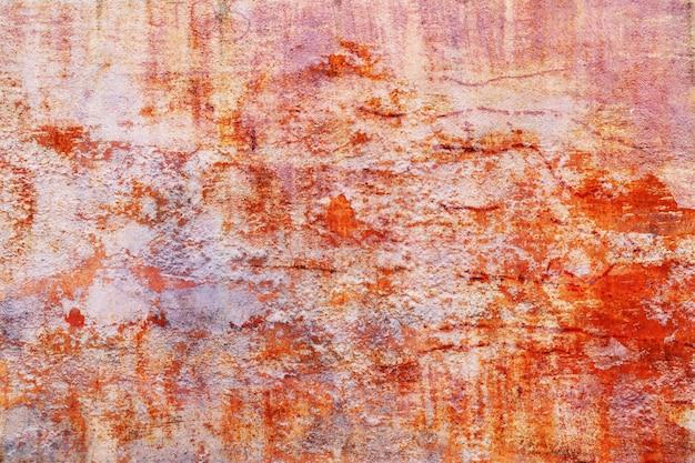 Textura coroded do metal de grunge. a placa de metal oxidada velha pesadamente envelheceu a mancha de corrosão. Foto Premium