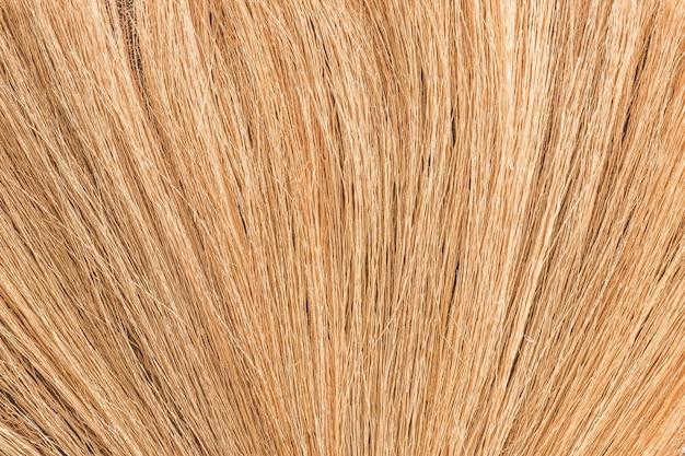 Textura da grama de bambu, material da vassoura que faz em tailândia. Foto Premium
