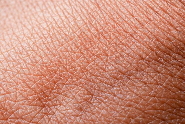 Textura da pele. pele escura da macro de mão de mulher Foto Premium