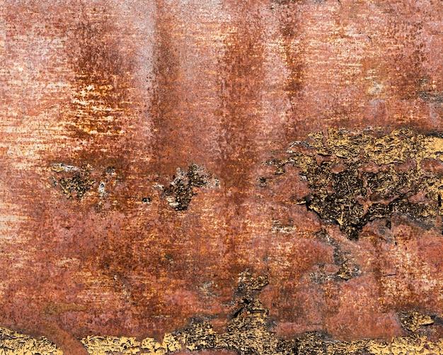 Textura de aço marrom enferrujada e arranhada Foto Premium