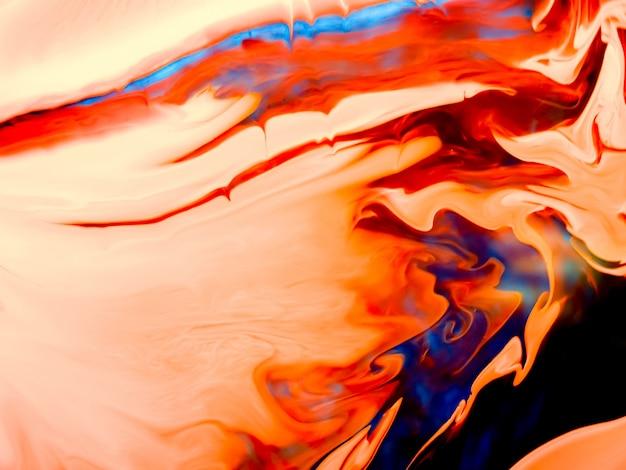 Textura de acrílico suave com curvas laranja e design exclusivo Foto Premium