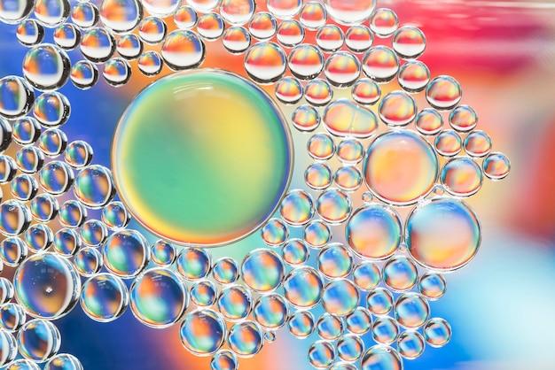 Textura de bolhas multicoloridas abstrata Foto gratuita