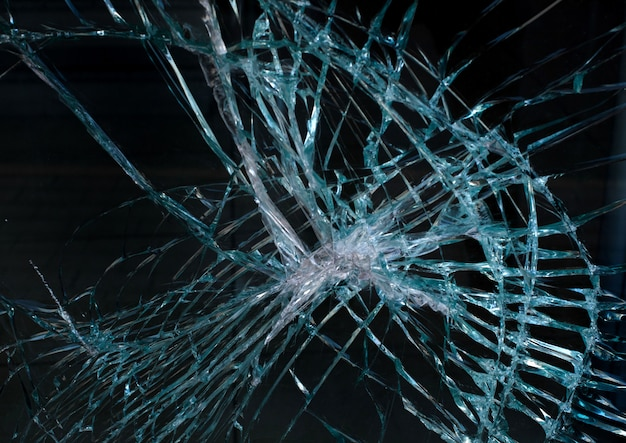 Textura de colisão de vidro Foto Premium