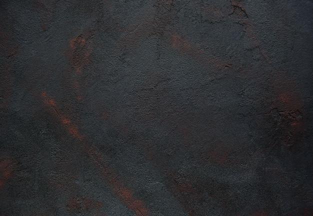 Textura de concreta preta enferrujada - abstrato Foto Premium