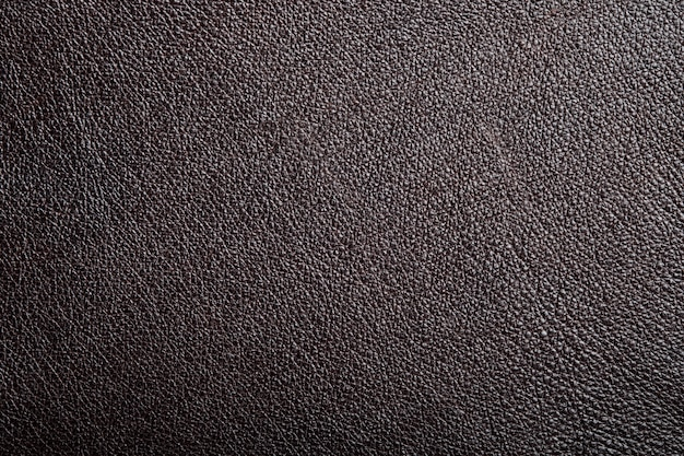 Textura de couro genuíno marrom Foto Premium