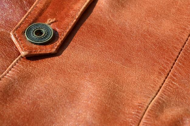 Textura de couro marrom. útil como pano de fundo para qualquer trabalho de design. Foto Premium