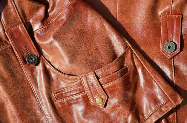 Textura de couro marrom. Foto Premium
