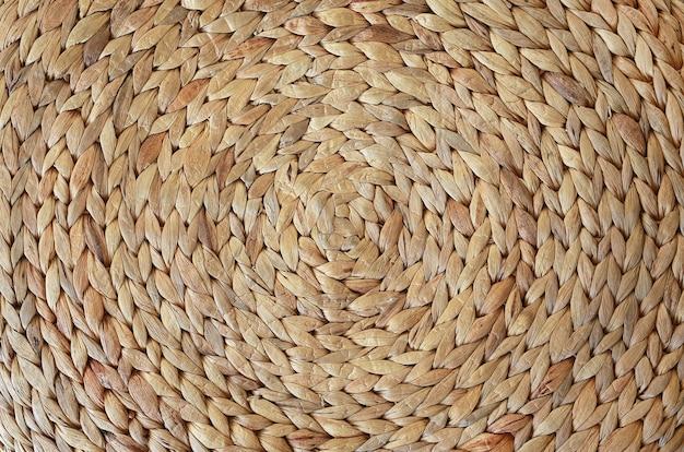Textura de esteira tecida feita de jacinto de água seca Foto Premium