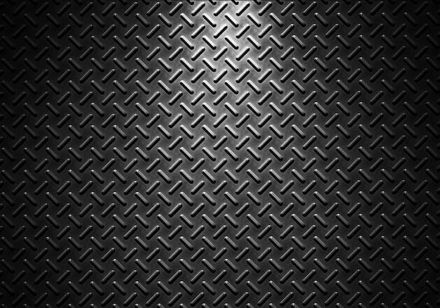 Textura de folha de metal cinza com luz direcional Foto Premium
