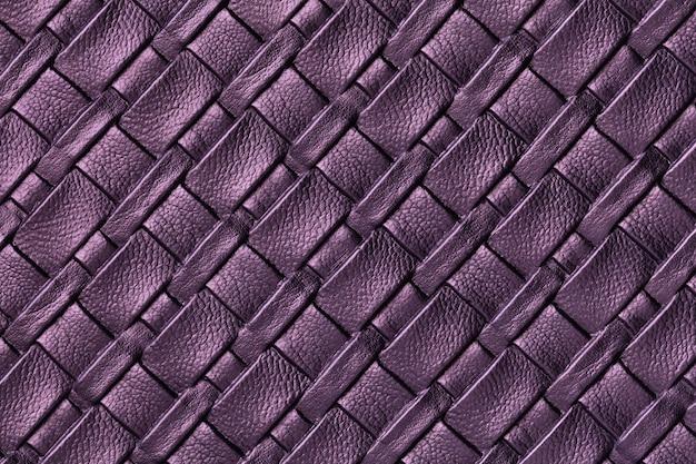 Textura de fundo de couro roxo escuro e lavanda com padrão de vime Foto Premium