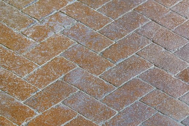 Textura de fundo de pavimento de pedra marrom velho Foto Premium