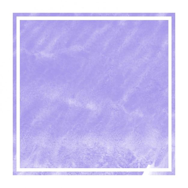 Textura de fundo de quadro retangular aquarela mão desenhada violeta com manchas Foto Premium