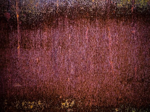 Textura de fundo marrom abstrata. parede de metal de textura abstrato marrom Foto Premium