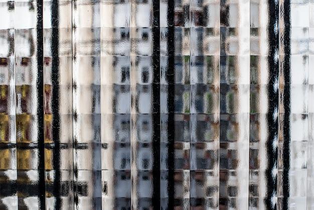 Textura de janelas de vidro, olhando através Foto Premium