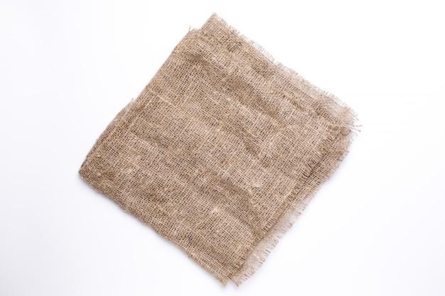 Textura de linho de tecido natural vista superior de fundo Foto Premium