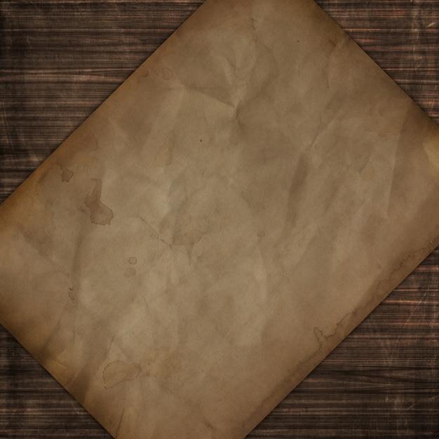 Textura de madeira de estilo grunge com design de papel velho Foto gratuita
