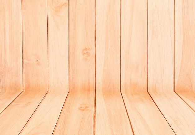 Textura de madeira, fundo de mesa de madeira vazia. para exibir ou montar seus produtos. Foto Premium