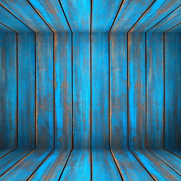 Textura de madeira lavada azul. painéis antigos de fundo Foto Premium
