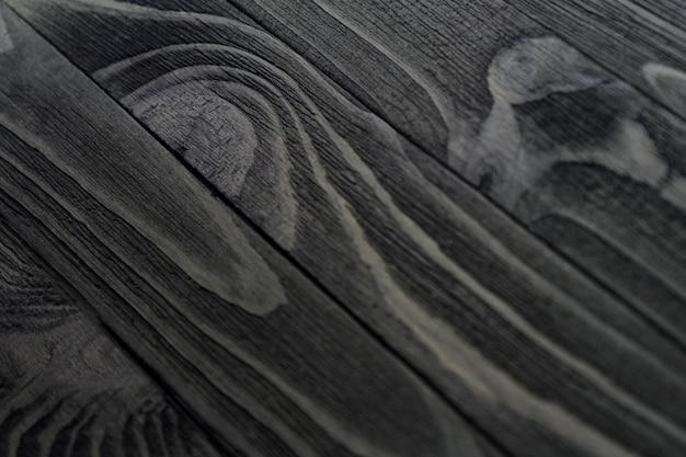 Textura de madeira preta Foto Premium