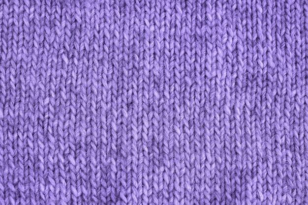 Textura de malha ultra violeta. malhas artesanais. Foto Premium