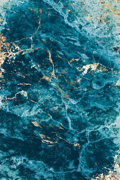 Textura de mármore azul e dourado Foto gratuita
