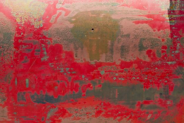 Textura de metal com arranhões e rachaduras, parede de ferrugem Foto Premium