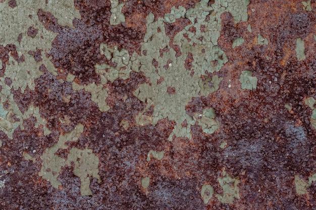 Textura de metal enferrujada com fundo de corrosão Foto Premium