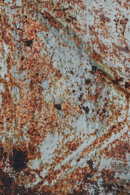 Textura de metal velha enferrujada com corrosão e tinta de fundo Foto Premium