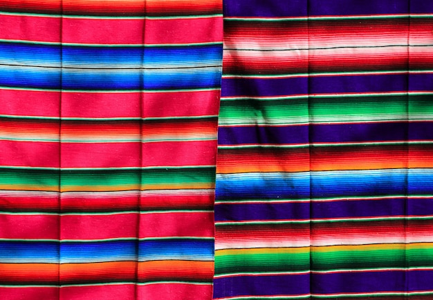 Textura de padrão colorido tecido mexicano poncho Foto Premium
