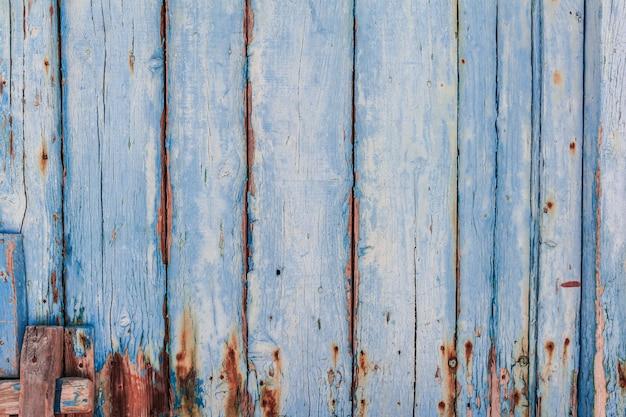 Textura de painel de madeira pintado de azul Foto Premium