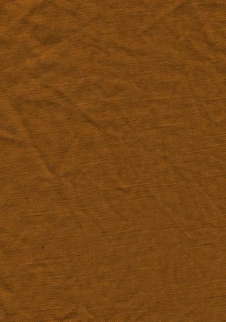 Textura de pano de linho marrom Foto Premium