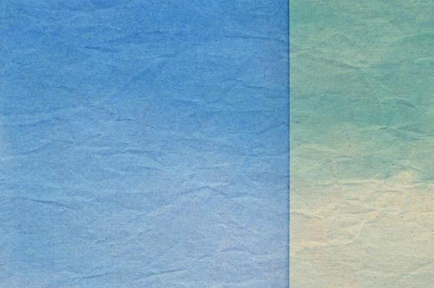 Textura de papel amassado azul e verde Foto Premium