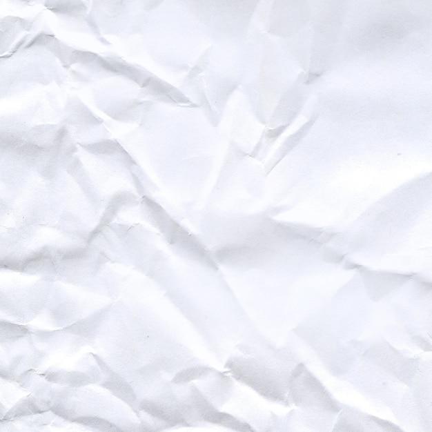 Textura de papel amassado branco Foto Premium