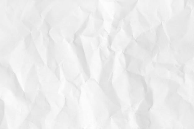 Textura de papel natural amassado branco para plano de fundo e design. Foto Premium