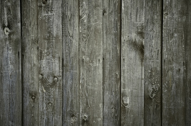Textura de parede de madeira cinza escuro velho Foto Premium