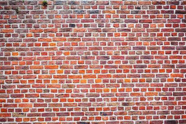 Textura de parede de tijolo velha marrom Foto Premium