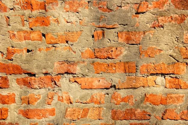 Textura de parede de tijolos antigos Foto Premium